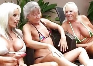3 Grandmas Get Darksome Dick Deep Inside Them, Begging to Drink Their Cum