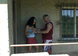 Grandpa Just Banged A Sexy Busty Teen Outdoors