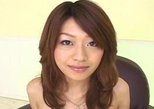 Lusty Asian milf Nagisa Sasaki gets hairy pussy masturb