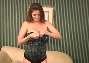 Gorgeous Breasty MILF June Summers Masturbates