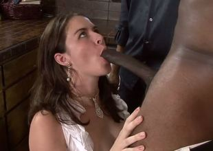 Nicole Rider is no longer willing to settle for the tiny cock of her hubby Gabriel. Now she craves to get the best of Sean Michaels big black rod all in front of the humble cuck!