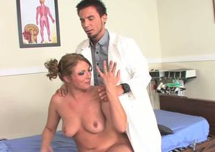 Bootylicious MILF Ava Rose is finally ready for the most detailed medical examination in her whole life. Watch her get examined with younger doctors stiff cock!