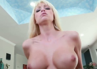 Ever wish you could have a busty, beautiful blonde ride your cock like her life depended on it Well, my friend, Ive got the next best thing. This babe does it all, and in P.O.V.!