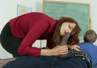 Phoenix is a hot MILF with a classy, serious demeanor. So she was perfect for the role of a teacher turned bad, sucking student cock after class -- especially the dark ones.