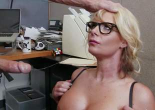 Business woman Phoenix Marie is a curvy whore who loves fucking with her employees. Passionate milf with huge tits and thick ass takes Johnny Sins dick eagerly. He loves her body and bangs her the way she loves it