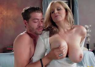 Julia Ann is a good looking horny mature woman with perfect big melons. She gratified her raunchy desires with her sons best buddy. Her juggs receive him hot and then he inserts his dick in her hot cunt
