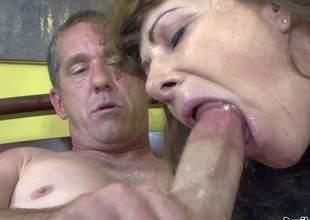 Alexandra Silk is a horny aged slut who loves to fuck and cant get enough. She gives deep blowjob to hot old man and then takes it up her pussy. See sexy assed aged whore engulf and fuck