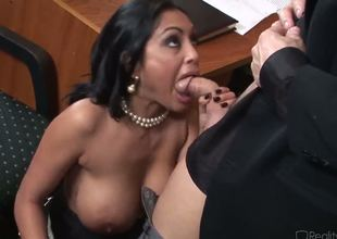 Incredibly hot Indian plump breasted milf Priya Rai is all over her office co-worker in a wild and really arousing oral encounter which captures the eye.