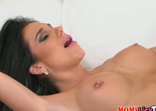 Mature with big breasts and shaved bush opens her legs to be tongue fucked by lesbian Jaclyn Taylor