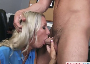 Emma Starr with huge jugs and bald snatch gets a pussy stuffing in steamy action with Seth Gamble