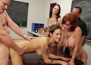 Classroom orgy with busty Veronica Avluv