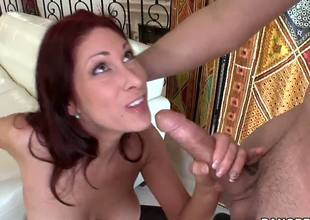 You can tell that Tiffany Mynx had a lot of cocks in her long career, but she sure hasnt had enough. She hungrily sucks a guy off before letting him fuck her senseless...