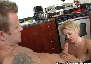 Jeremey Holmes is fingering and licking his friend hot mum, Kelly Leighs wet beaver