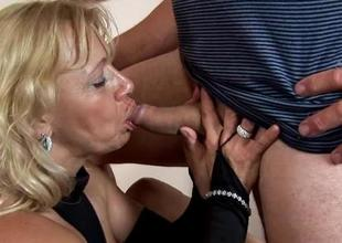 Fuckable older feels on top of her sex partner