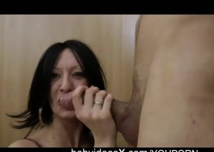 Nikita a pretty dark brown milf makes her first porn casting