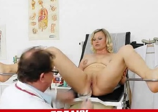 Naughty doctor examines the curvy milf