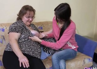 Over weight mature lesbo