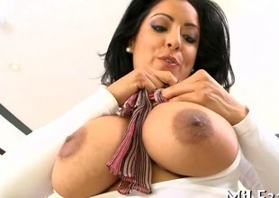her milf big boobs bounce as she gets ravaged