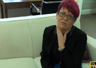 Redhead mature whore doggystyled mercilessly
