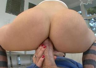 Wicked mature darling is teasing her lusty teats