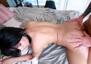 Slut is fingering her wet a-hole in advance of getting dick in it