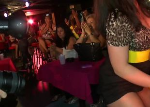 Slutty amateur party girls and male strippers have a wild time