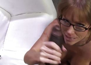 Sexy cougar Darla Crane gets anal from big darksome cock