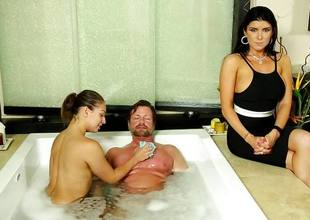 Scary jealous Romi Rain finds out what is a Nuru Massage
