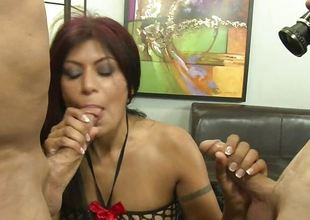 Latin milf sucking these hard cocks