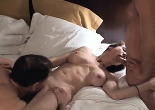 Appealing MILF cuckolding her husband