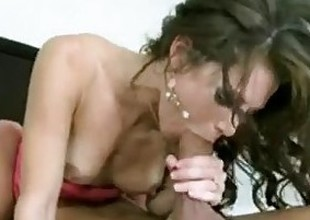 Sexy young Brunette hair cheating wife fucks hubby's friend's big-dick