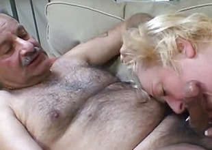 In her narrow pussy he poked his cock