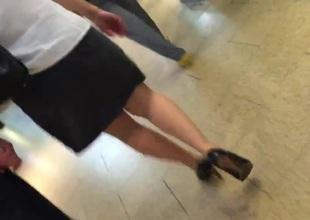 candid legs walk