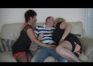 Hot amateur British MILF trio fuck
