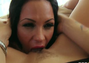 Look at this passionate dyke Monique Alexander! She know what woman needs and shows the dark side of her nature to poor little Kirsten Price who is not quite ready for this, but still finds this enjoyable.