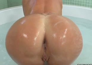 Beautiful milf Dianna Doll with tight and sweet forms gets her round natural boobs, large cheeky ass and miniature pussy oiled in the shower. Dianna willingly shows off each part of her perfect body.