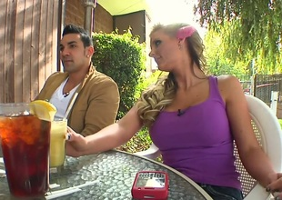 Buxom and attractive blonde Phoenix Marie was pick uped by young, but rich businessman. This handsome man looks very sexy and Phoenix pussy become soaking wet.