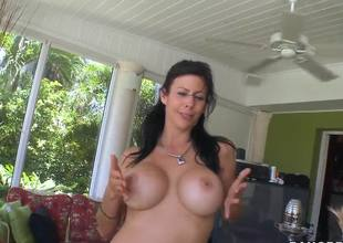 Gorgeous slender milf with awesome boobs Alexis Fawx is all warmed up and willing to play some adult games with her pinky vagina on camera.
