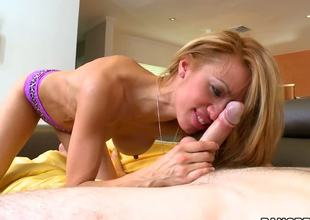 A petite milf honey Jandi Jenner can hardly miss a young dick around and they say she has screwed all of her cute neighbours already. But today somebody special is coming for lunch...