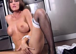 Cody Love works as a maid and prefers to work with her snatch while nobody is at home. That babe definitely knows how to reach orgasm using her naughty fingers. Watch and enjoy