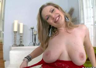 Vicky Vixen is a big breasted milfy lady. She shows off her nice titties and then gets her pink juicy pussy and sweet asshole tongue fucked. Watch well-endowed woman get some enjoyment