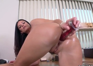 India Summer is a hot milf with tanlines on her natural tits who is eager to get some dick in her throat and pleasing pussy. And thats exactly what she gets.