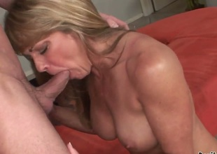 Yeah, this lustful huge tittied blonde babe Shayla LaVeaux knows how to caress cocks! Now she is going to prove us this fact and to perform really unforgettable fellatio.