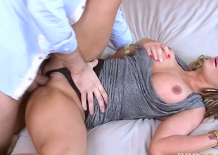 Nikki Nine with phat ass is hungry for hard fucking and gets used by horny Keiran Lee
