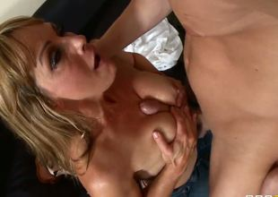 Shayla Leveaux will do anything to help her son make new friends! She goes as far as letting his classmate Seth Gamble fuck her senseless if he promises to hang out with him...