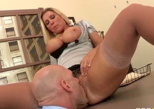 Johnny Sins confronts Devon Lee about the dirty games shes been playing to move up in their company. She does the old trick, flashing her giant tits and offering to blow him...