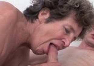 Dick hungry grandma loves anal sex