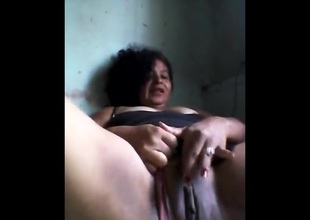 Happy Brazilian Granny Masturbates