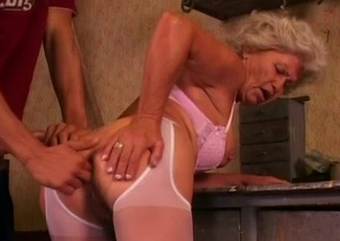 Hot grandma Effie likes anal