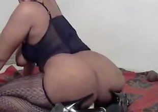 Hot Big Ass Ebony Riding Dildo
